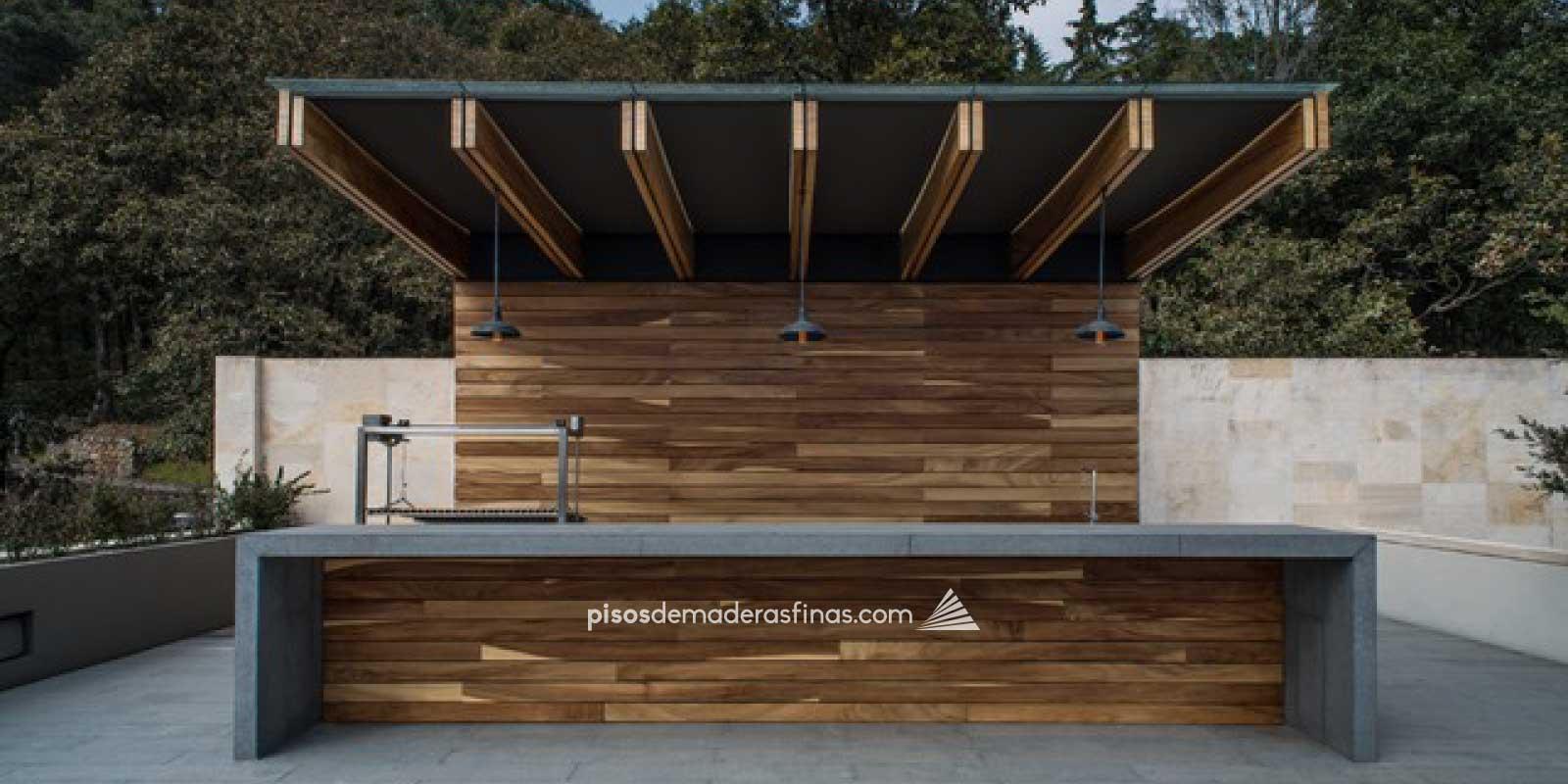 Deck de madera de parota huanacaxtle piso de madera para for Deck para exteriores